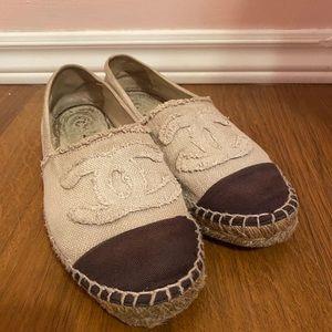 Authentic Chanel Tweed Espadrilles